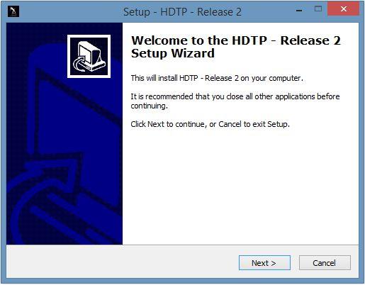 HDTP Beta Release #2 Installer