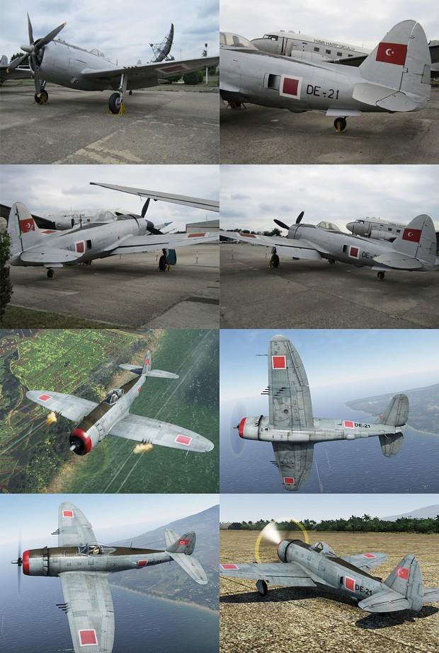 Turkish Air Force P-47D-28 Skin (War Thunder)