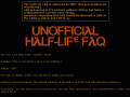 Half-Life Unofficial FAQ
