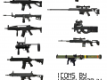 My custom weapon icons for Develop013's weapons