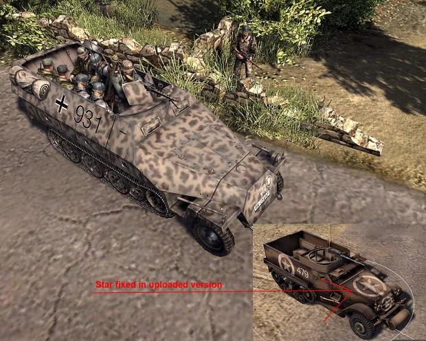 Halftrack skins for Men of War:Assault Squad 2