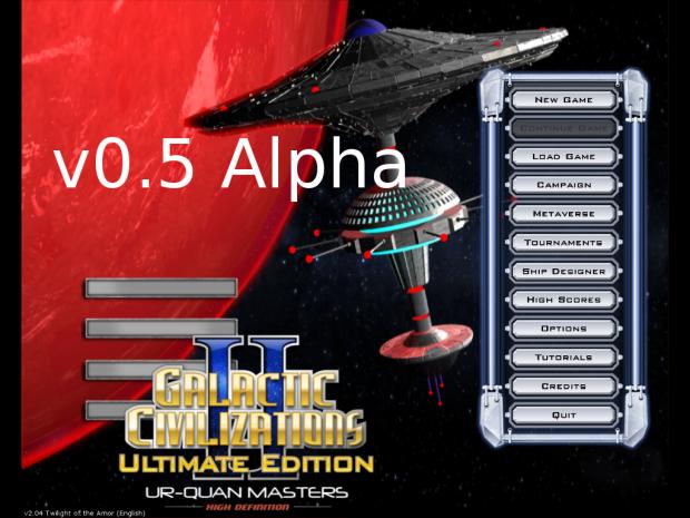 Version 0.5 Alpha