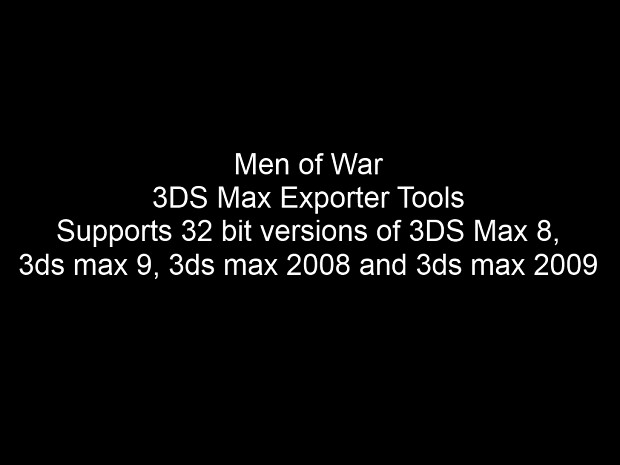 Men of War 3DS Max Exporter Tools