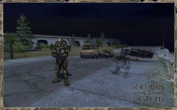 Enclave soldier in power armor