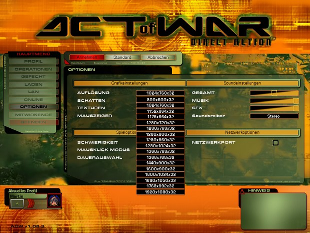 Act of War Resolution Patch (Disc version)