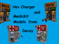 Hev charger and healt charger from half life decay