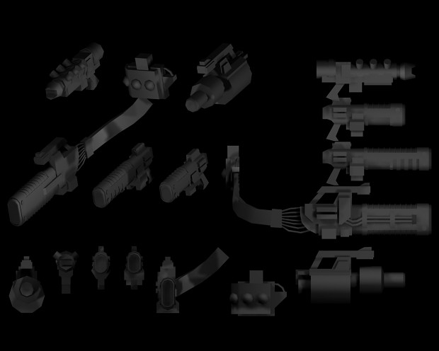 WH30k Weapon Models