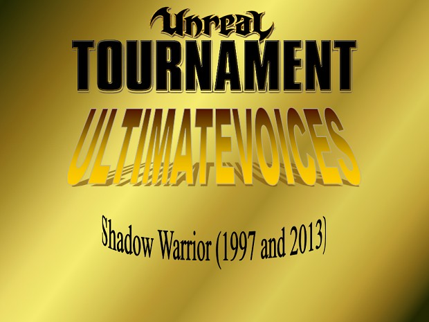 UV - Shadow Warrior (2 Voicepacks)