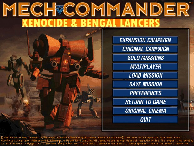 MCG Xenocide and Bengal Lancers