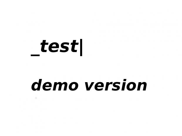 _test Demo release