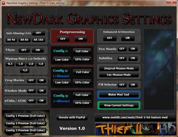NewDark Graphics Settings Tool 1.0 (Full Version)