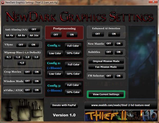 NewDark Graphics Settings Tool 1.0 (Light Version)