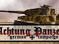 Achtung Panzer Mainmenu
