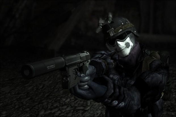 Fallout 3 Ghost Combat Helmet Skin