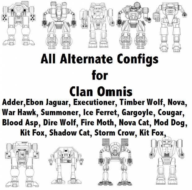 All alternate Configs for Clan Omnis V1.1
