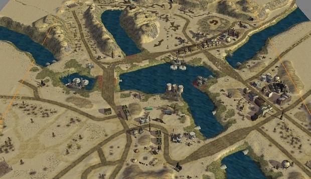 Toxic Generals Challenge map, 1v1 skirmish