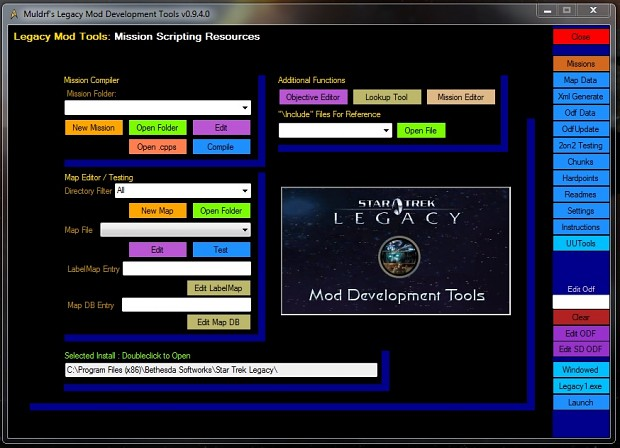 Muldrf's Legacy Mod Tools Suite Release 2L