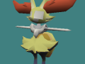 """Blank-faced"" Braixen playermodel"