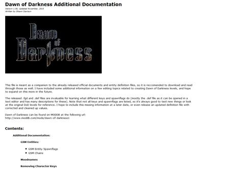DoD Additional Editing Documentation