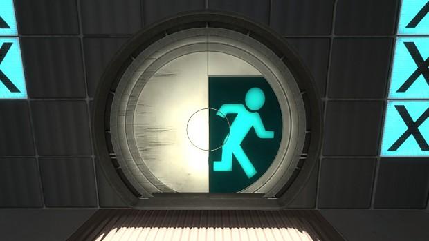 Portal 2 Beta Door Skin
