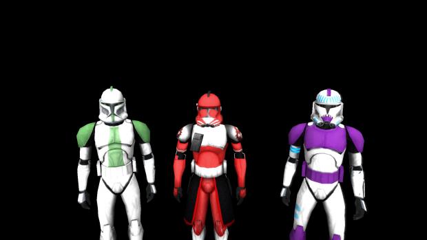 Fox, 187th clone, and Green Company clone