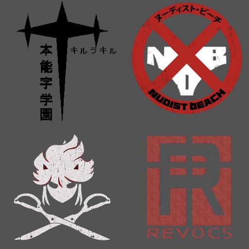 Kill la Kill Ship Badges