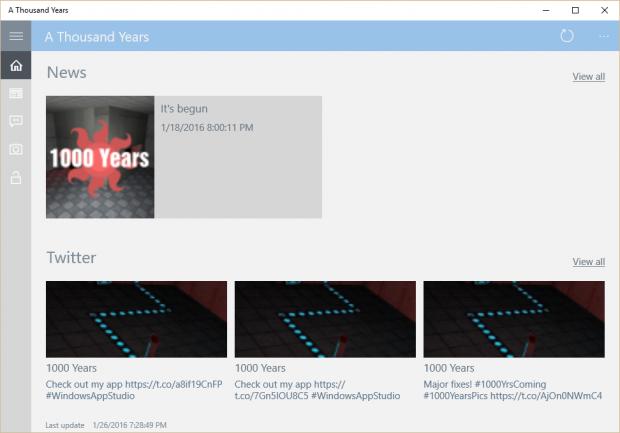 1000 Years Windows 10 Mobile Store App