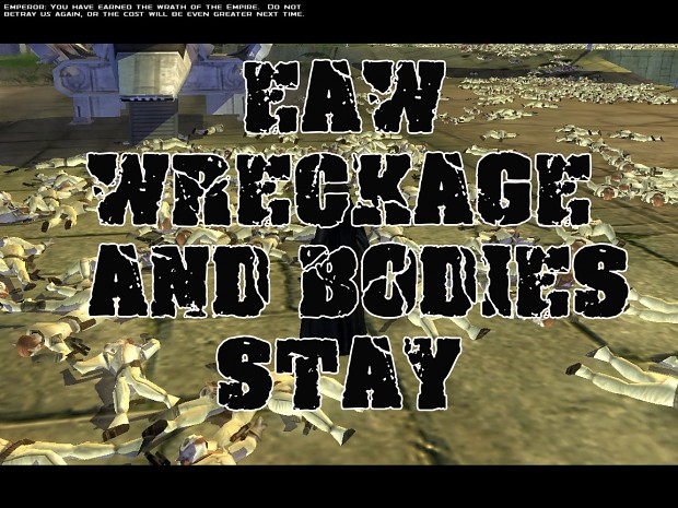 EAW Base Wreckage and Bodies Stay