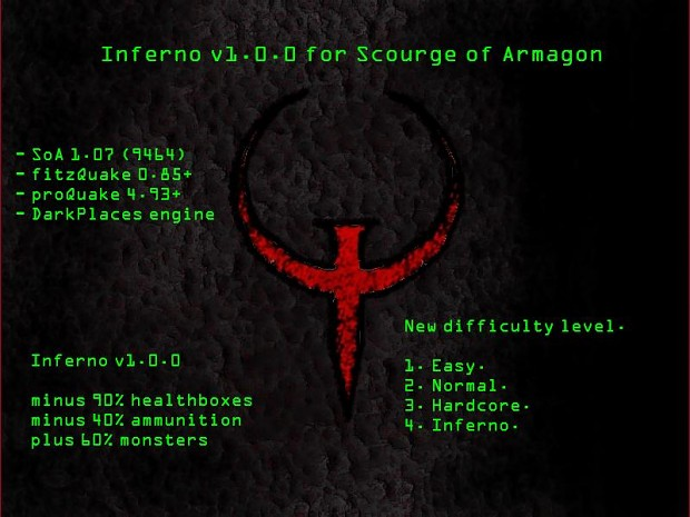 Inferno modification v1.0.0 for Scourge of Armagon
