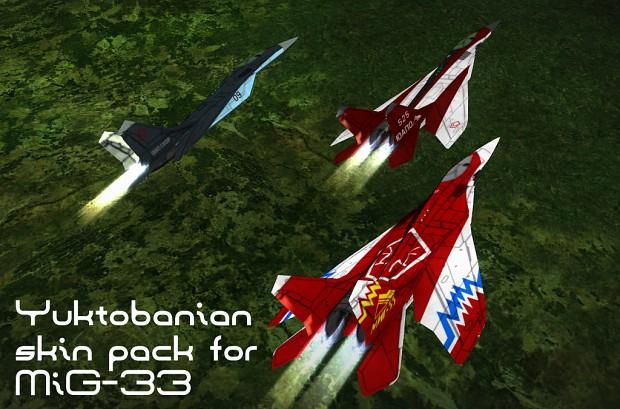 MiG-33 Yuktobanian skin pack