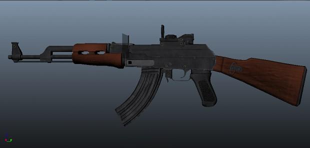 AK 47 model ( MAYA )