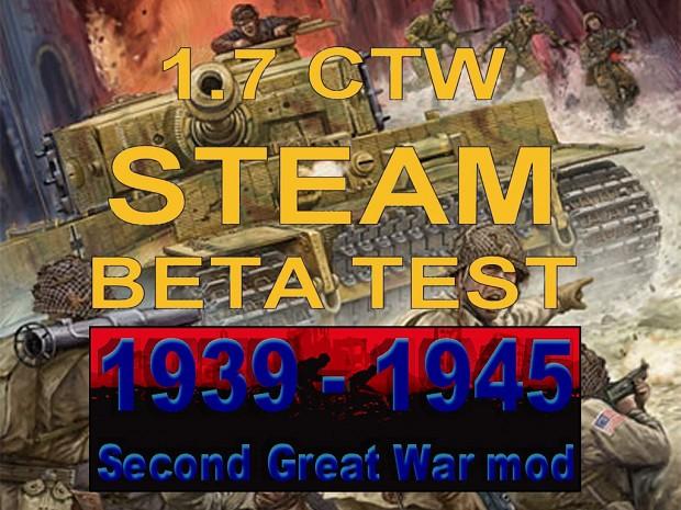 1939-1945 Second Great War 1.7 CTW STEAM