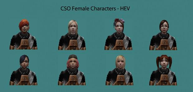 CSO Female Characters - HEV (5.0)