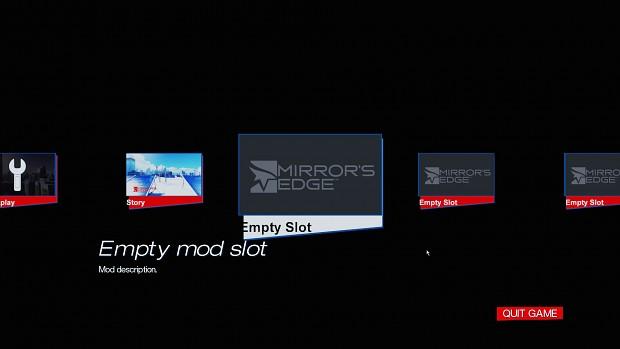 Mirror's Edge Mod menu (1.02)