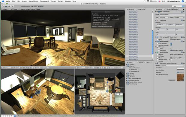 Unity Development Screens