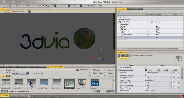3DVia Logo