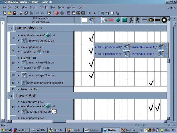 Multimedia Fusion Event Editor