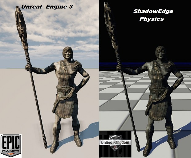 Unreal Engine 3 and ShadowEdge Physics Engine