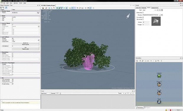 SpeedTree Foliage Editor