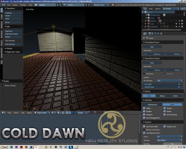 Cold Dawn Progress: Level building