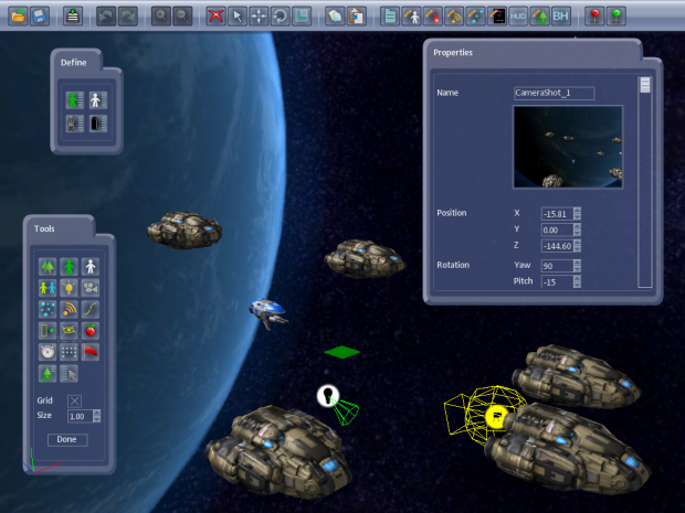 Shoot 'Em Up Kit - editor and in-game images