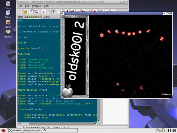 Keeping it OldSkool on the Linux version!