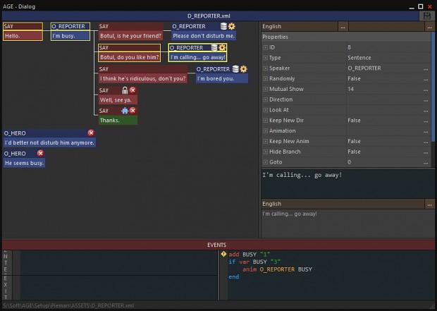 Dialog Editor (Conversations)