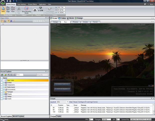scene editor image - visual3d game engine