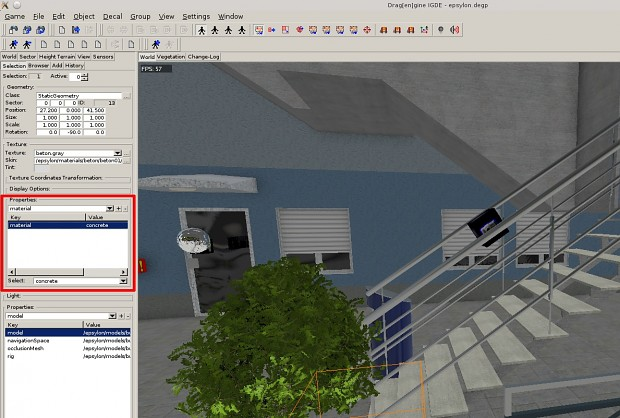 world editor texture parameters