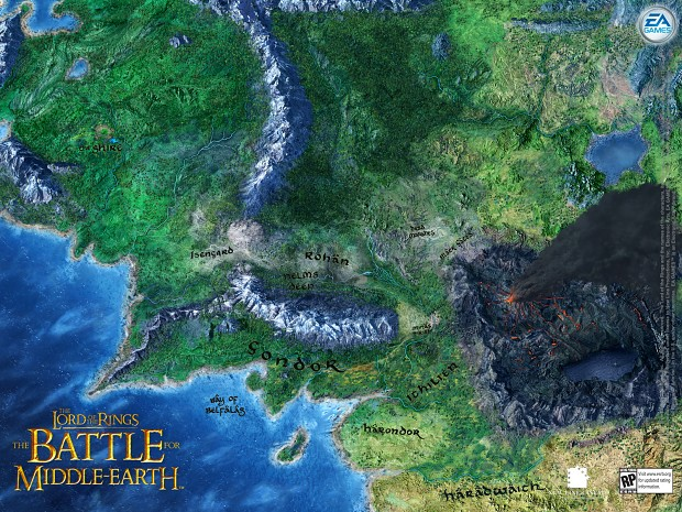 Images Battle for Middleearth Mod DB – 3d Map of Middle Earth
