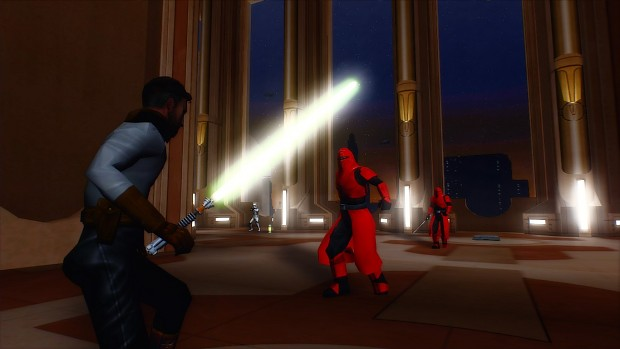 Kyle Katarn VS Imperial Royal Guard (Jedi Temple Coursuant BUC)