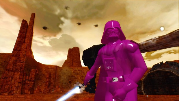 Pink Vader On Rezzed Geonosis