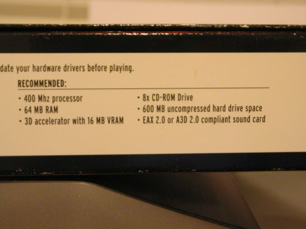 System Requirements for Thief 2