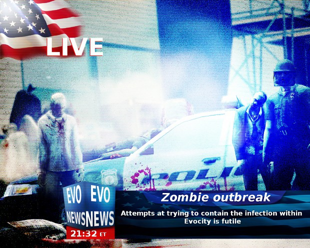 Evocity overwhelmed by Zombies (Special glasses)